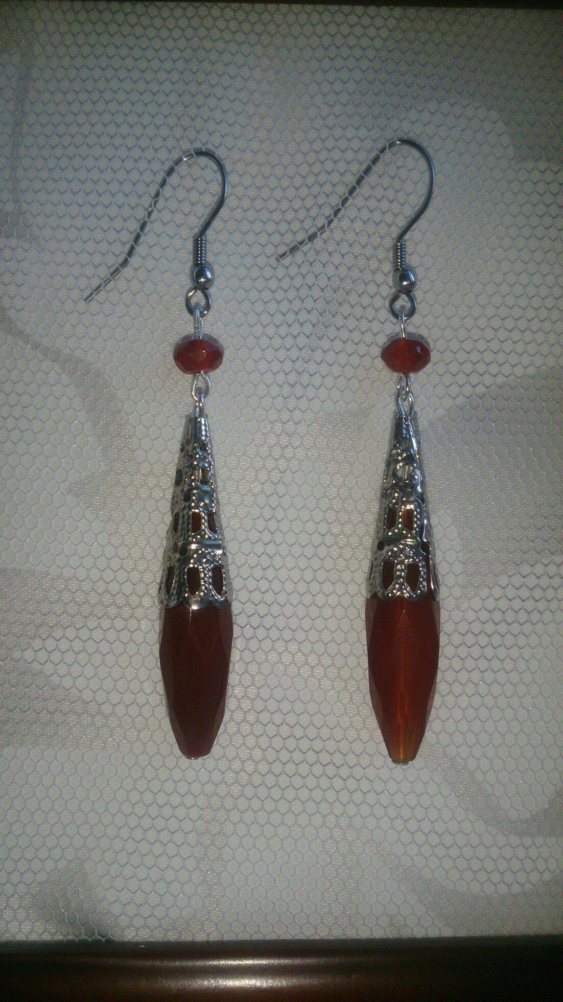 ручнаяработа сердолик подарок серьги натуральныекамни серебро