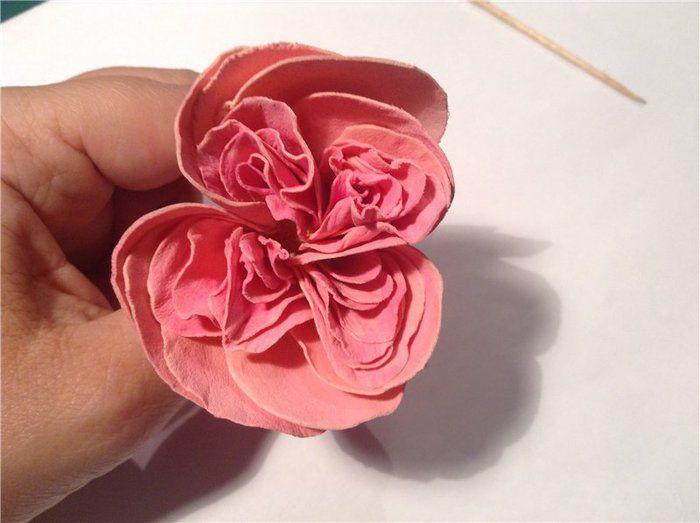 Роза из фоамирана мастер класс 12