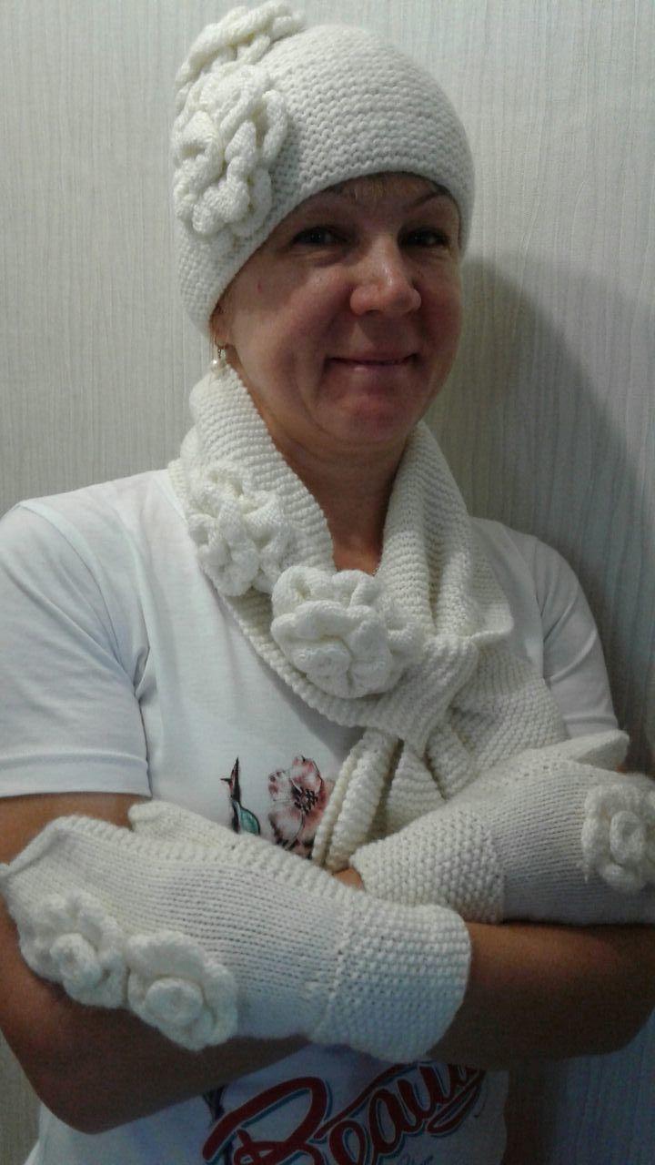 шарф варежки шапочка