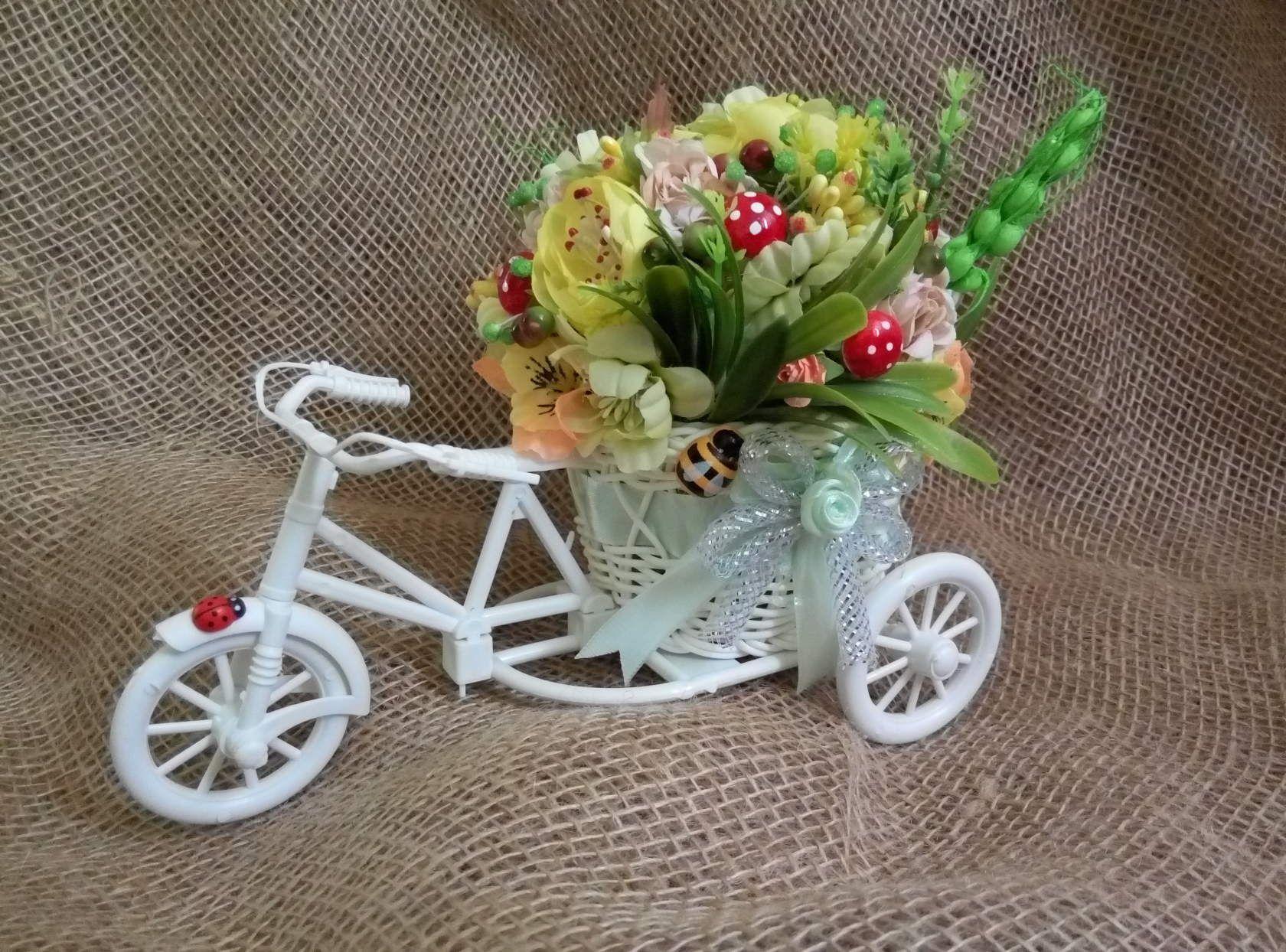 топиарийдекорвелосипедподарокцветы