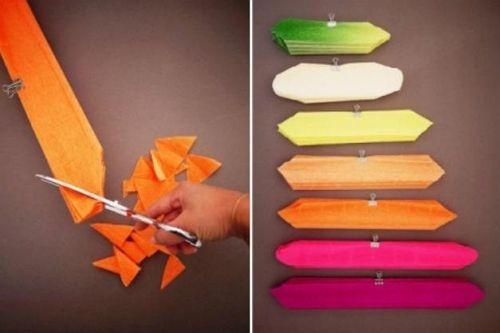 Цветы из гофрированной бумаги своими руками 6