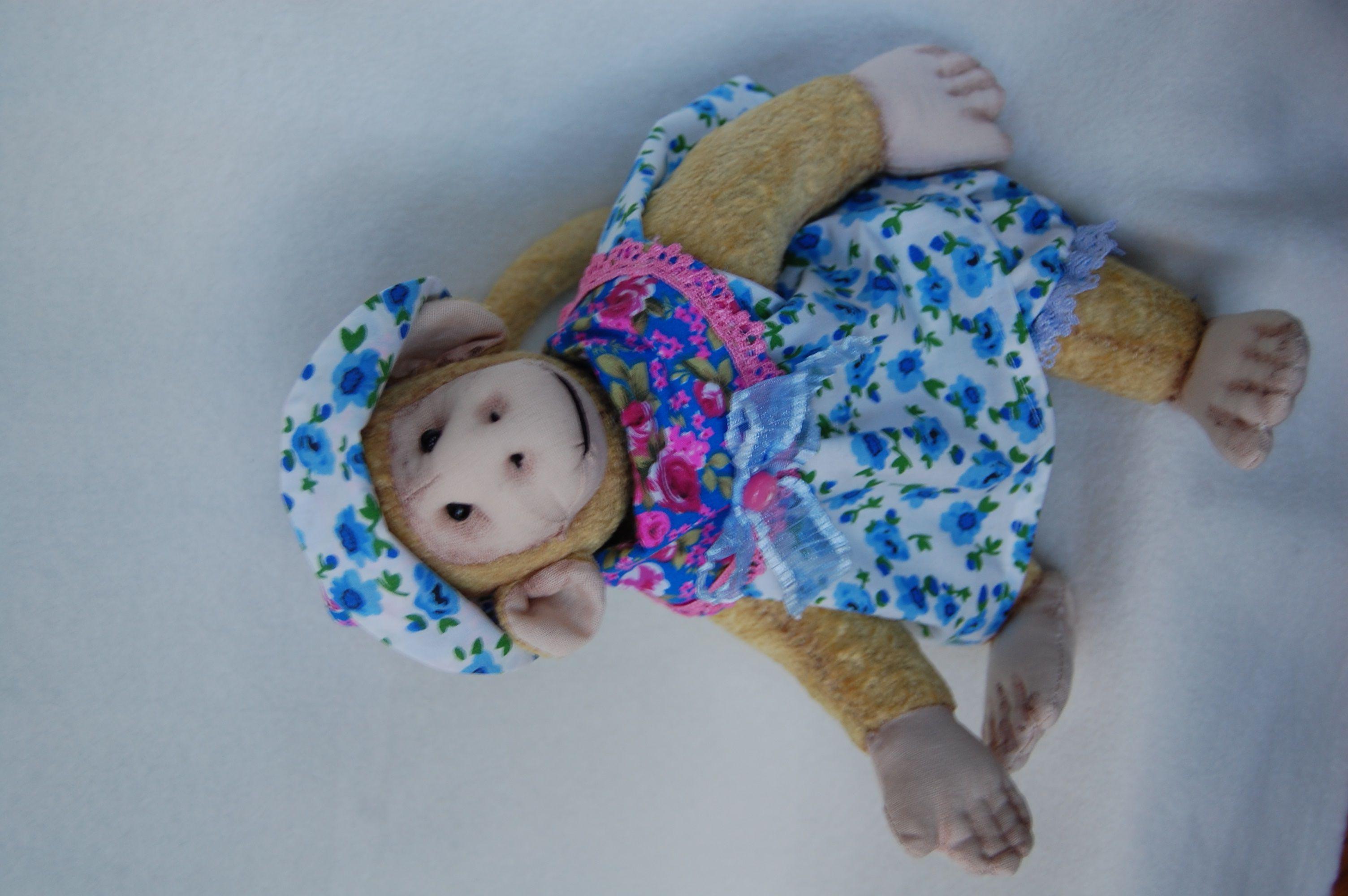интерьера ретро игрушка украшение тедди ручная обезьяна работа стиль подарок
