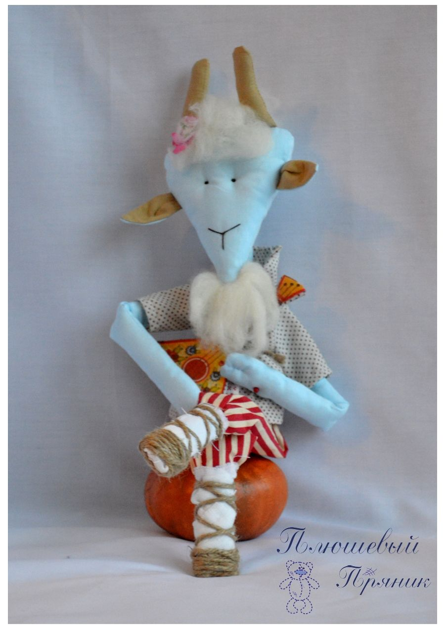 козёл балалайка козлик игрушка ручная авторский интерьерная работа