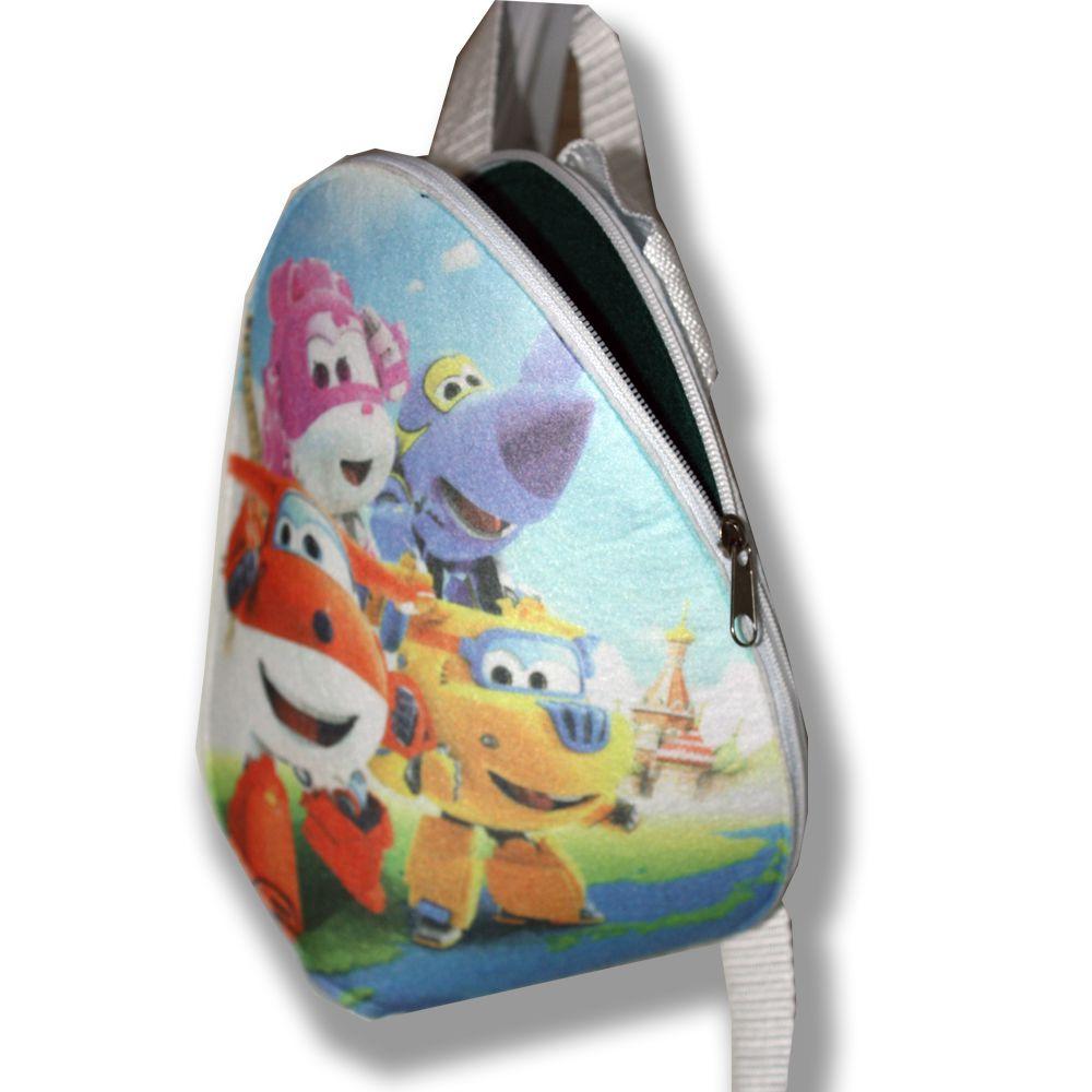 фотопринт сублимация работы ручной дет джером дизи суперкрылья принт сумка сумочка подарки авторские синий детям детский мультик фетр донни рисунок красный рюкзачок подарок
