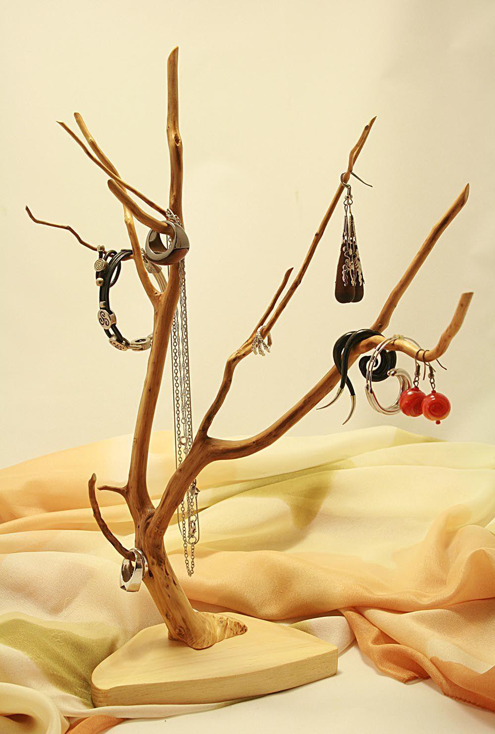 подставка декоративный ручная для украшений натуральные работа сережек украшения материалы колец бижутерия дерево элемент оригинальный подарок