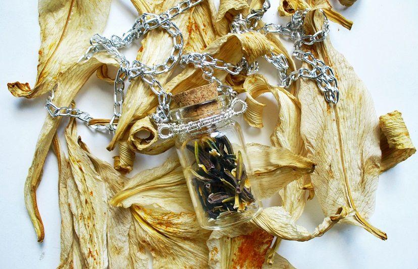 волшебнаябаночка лавкалисицы handmade ручнаяработа кулон сухоцветы