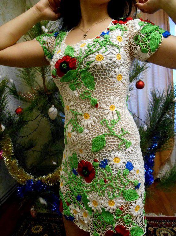 ирландское платье кружево крючок заказ