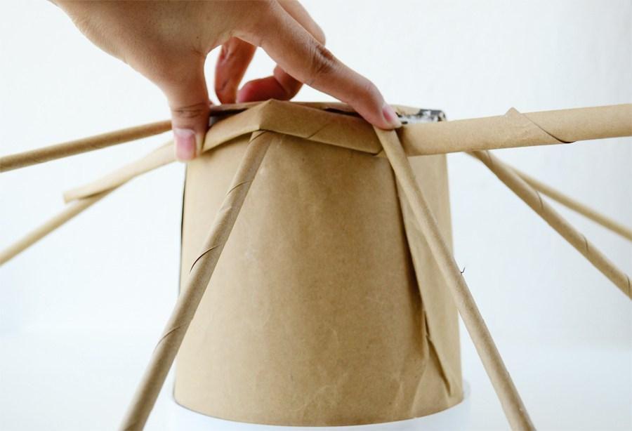 плетение интерьер кашпо газетныетрубочки избумаги