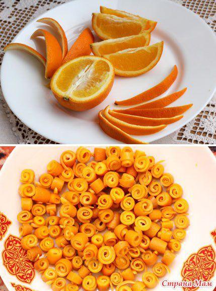 дом своимируками сделайсам идея креатив длясемьи апельсин кчаю вкусно рецепт хозяйка варенье цукаты апельсиновыекорки цукатызавитушки завитки заготовкиназиму джем чай
