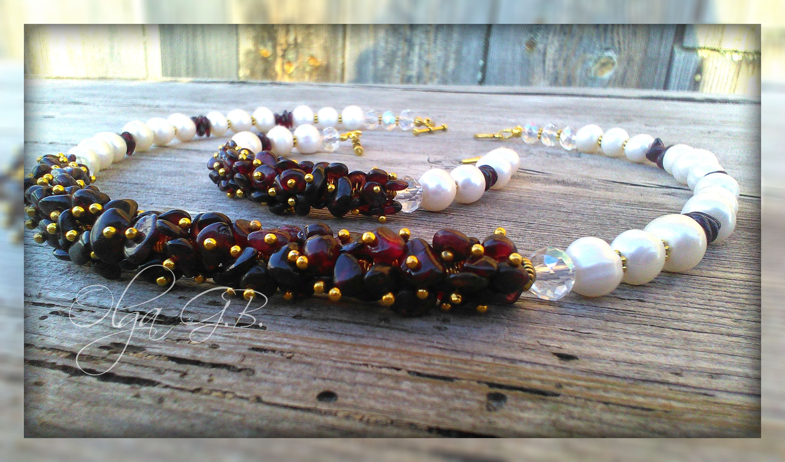 гранат комплект бусы жемчуг подарки аксессуары бижутерия натуральныекамни стиль украшения ручнаяработа браслет