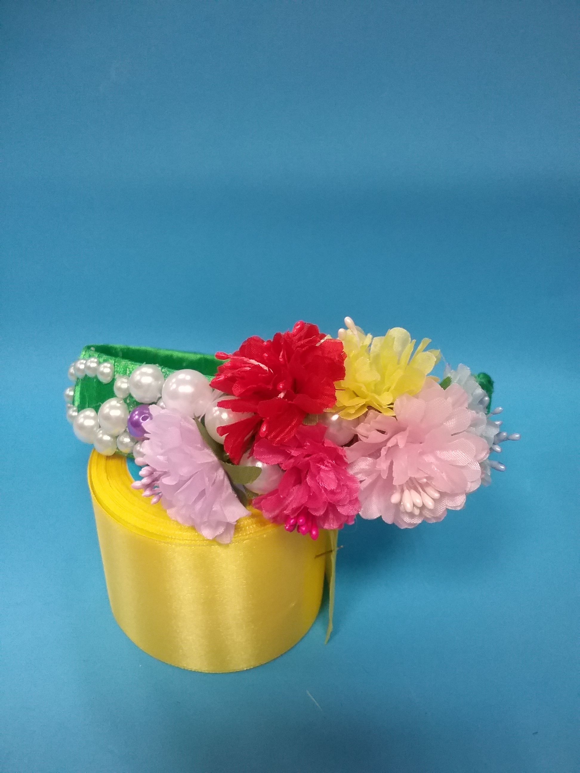 фоамиран фом весна всена канзаши ободки лето заколки цветы