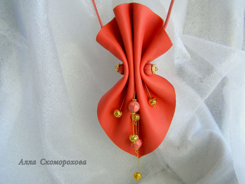 колье ручнаяработа кожа подарок авторскиеукрашения украшение стиль аксессуары handmade украшения эко дляженщины бижутерия изкожи