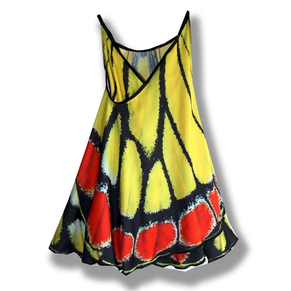 бабочка оригинальное креатив фотопринт желтый сарафан легкий принт сублимация красивый расцветка эксклюзивный черный крылья шелк подарок крансный комбинированный звериная платье модный