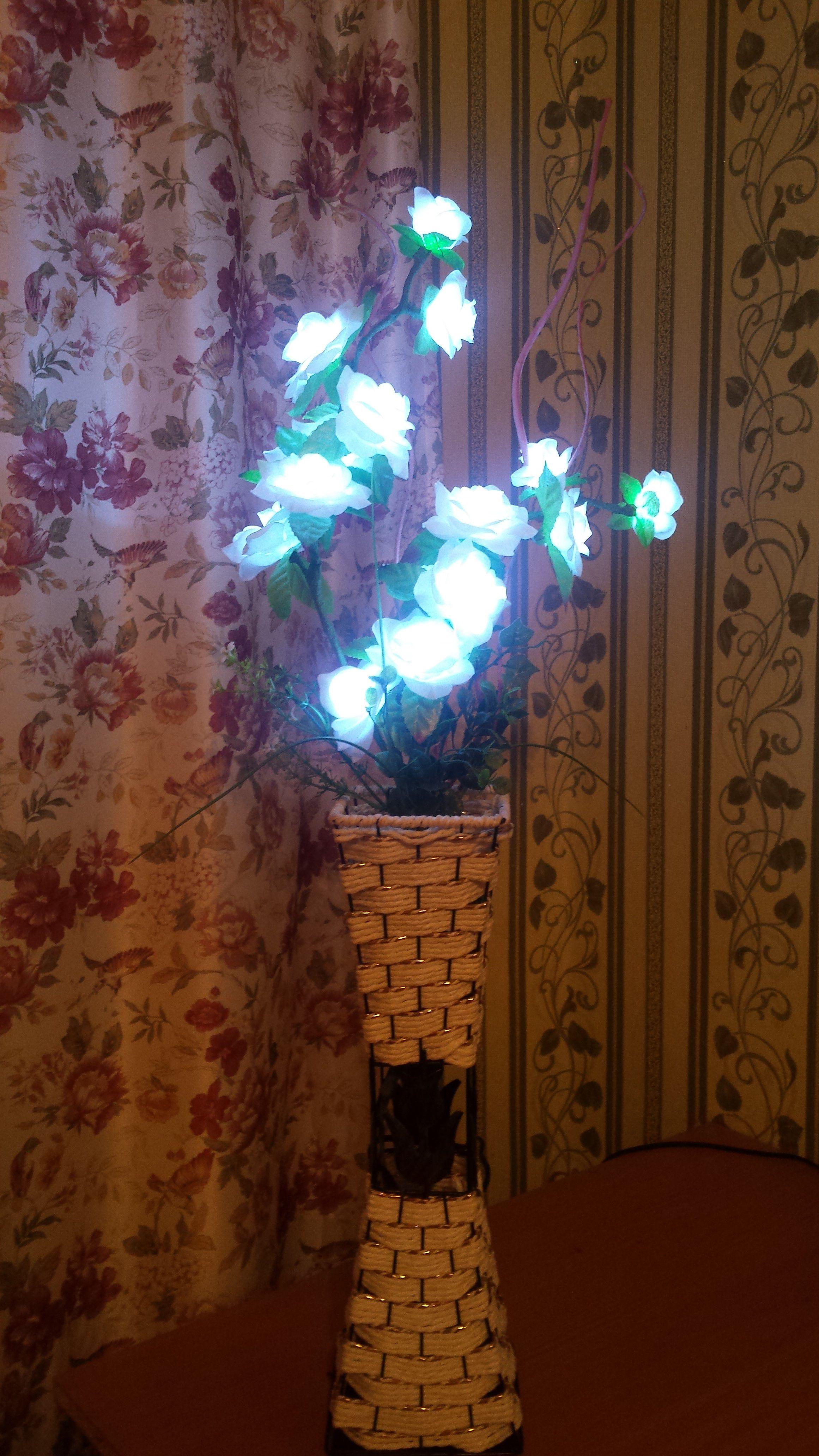 светодиодный цветы светильник ночник ваза