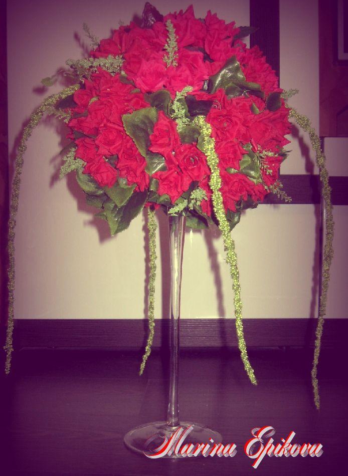цветов. искусственных цветочная композиция из