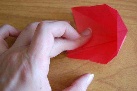 Оригами из бумаги цветы 28