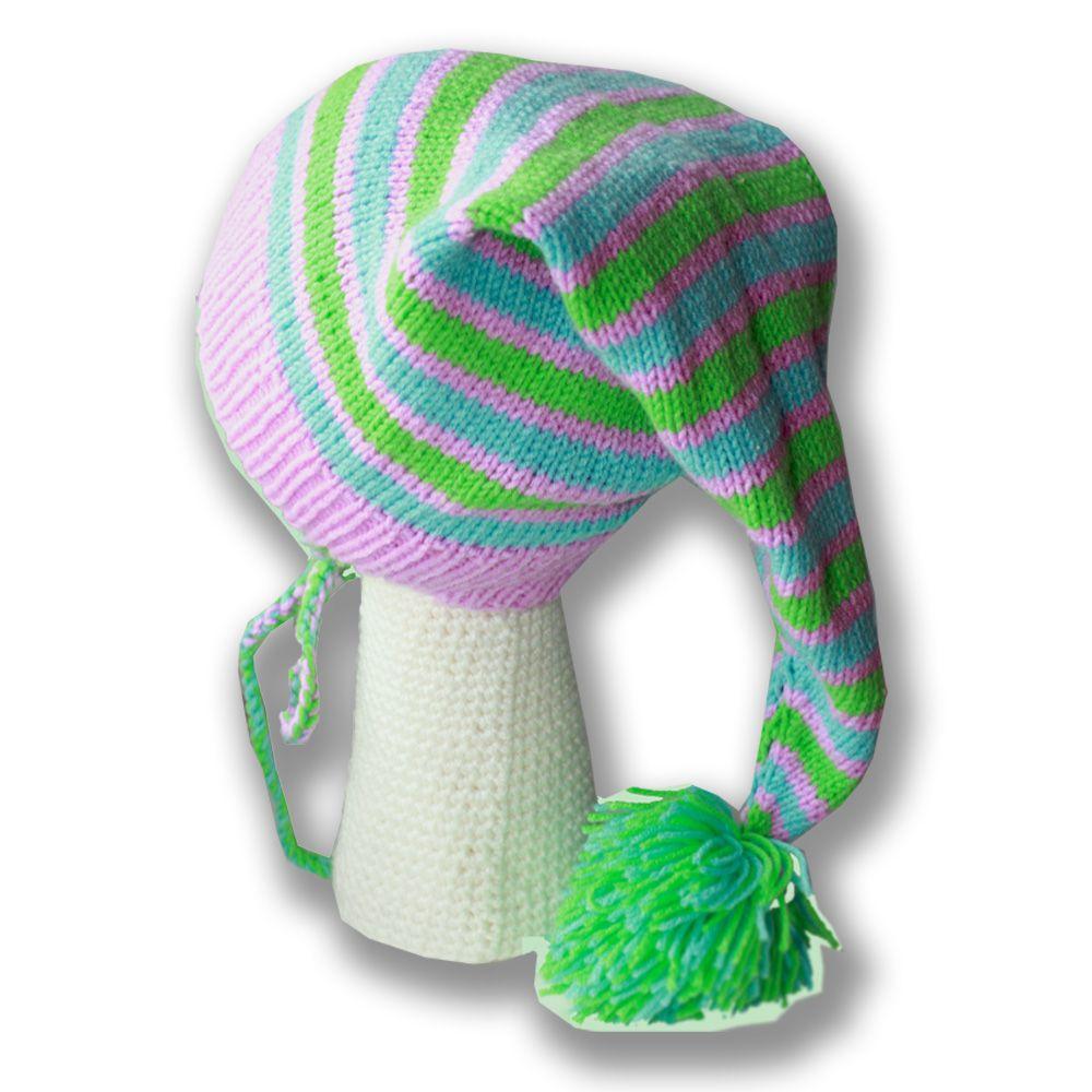 помпон связанное и колпак удобная спицами цветная осенняя полосатая колпачок аксессуары ручная детские детям шляпы шапки продажа купить шапочка работа
