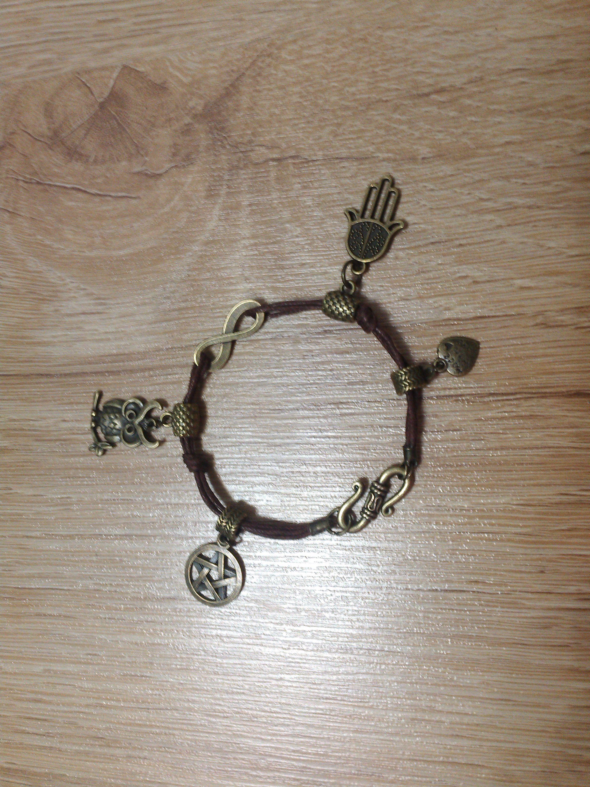 сова подвески украшение хамса браслет работы ручной бижютерия