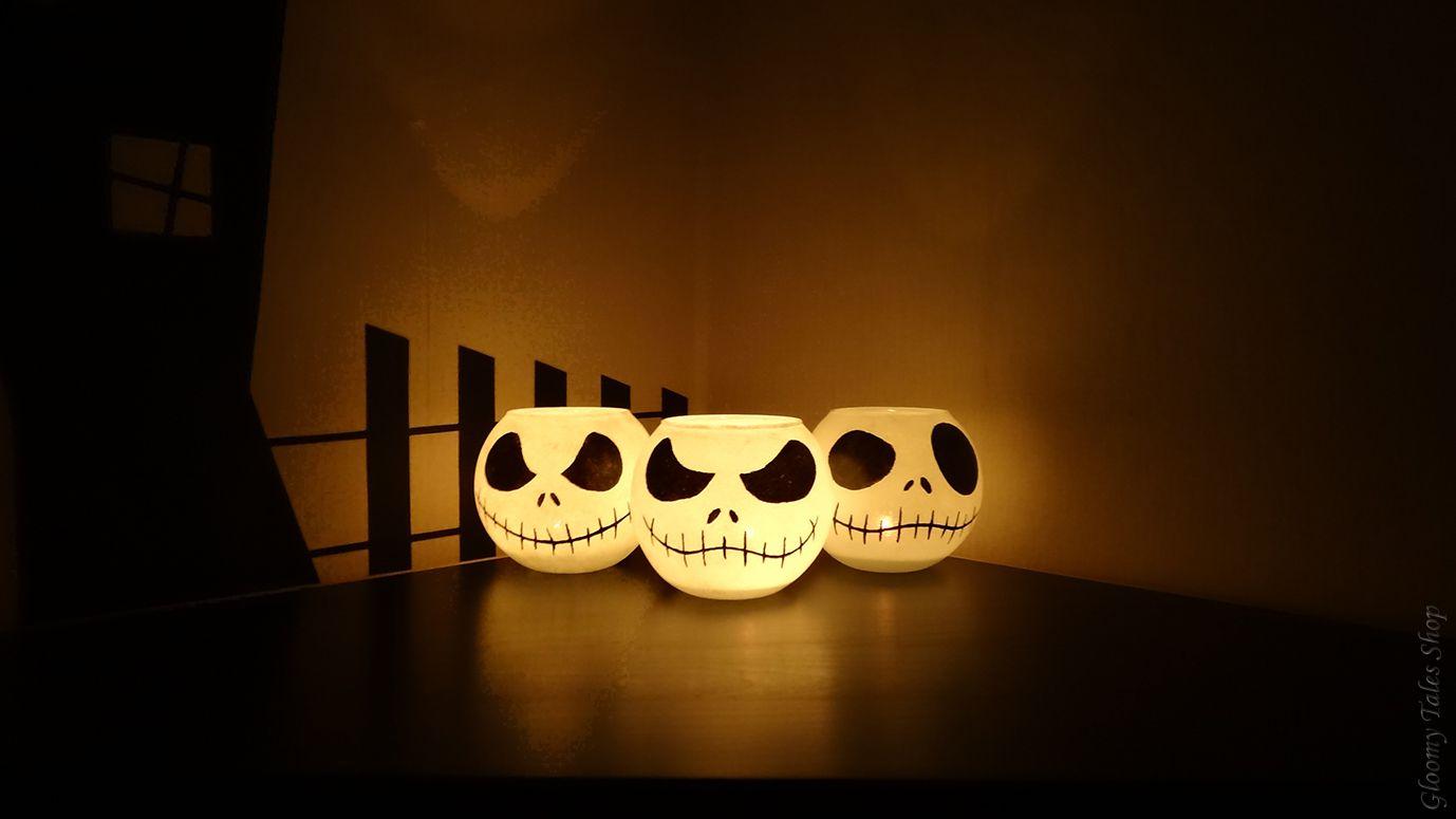 ручнаяработа голова хэллоуин кошмар handmade рождеством подсвечник хеллоуин джек фонарь скеллингтон