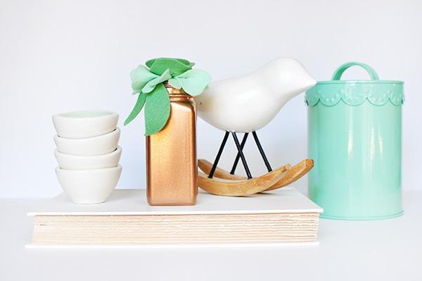 декор ваза интерьер фетр гости цветы