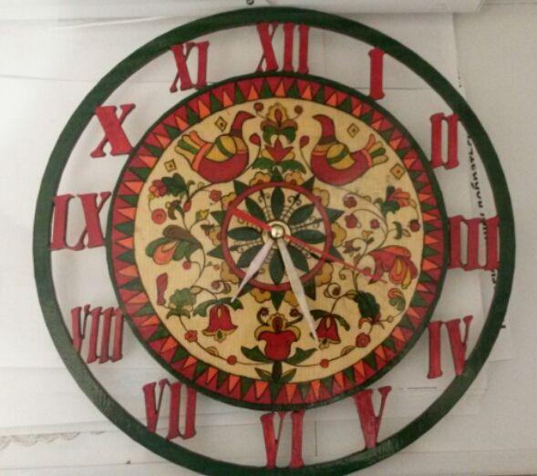 роспись юбилей деньрождения часы росписьподереву ручнаяработа подарок