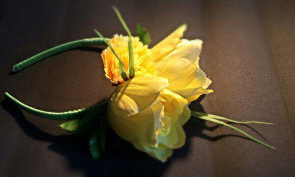 ободок handmade цветы