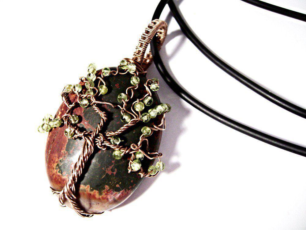 кулон яшмы купить для wrap wire дерево женщины девушки подарок