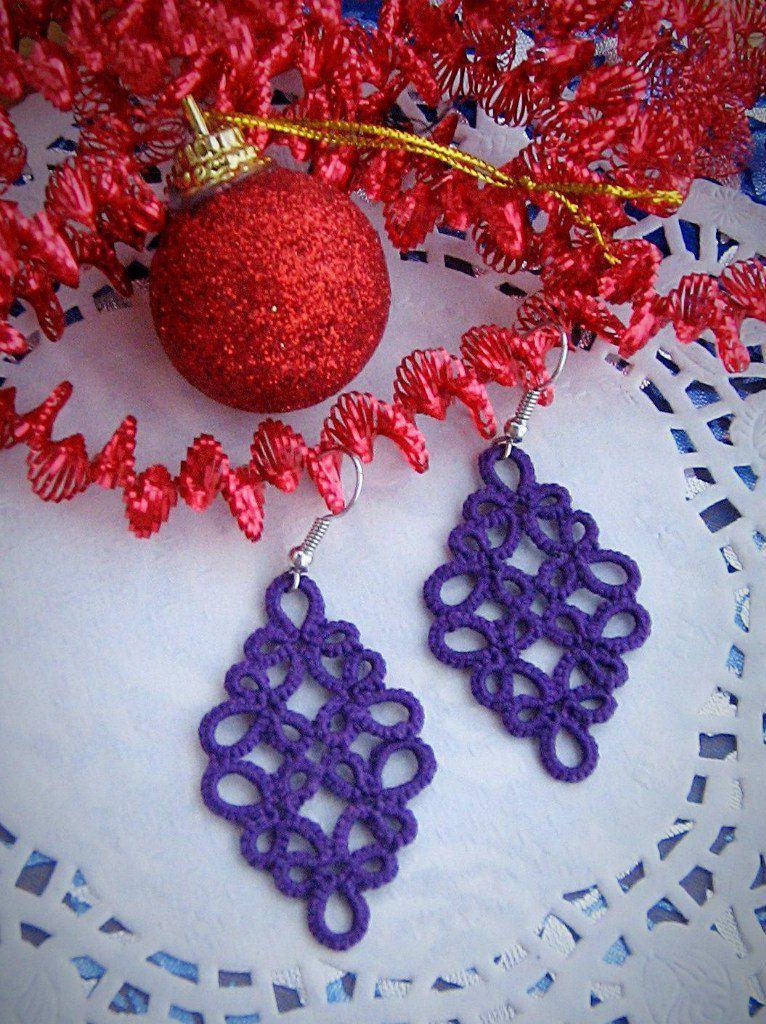 кружевные украшения фриволите ажурные