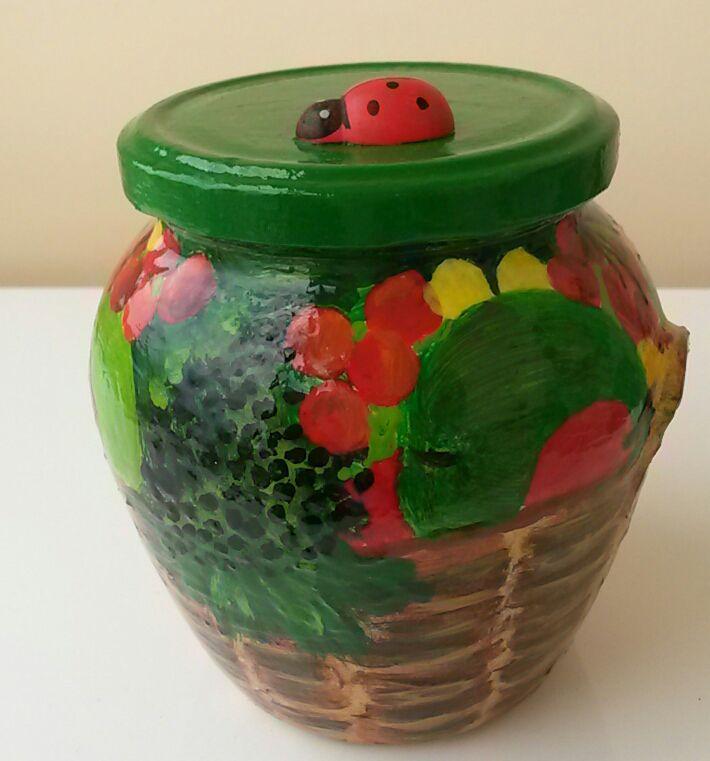 ягодное подарок акрил сувенир лукошко баночка божьякоровка ягодноелукошко