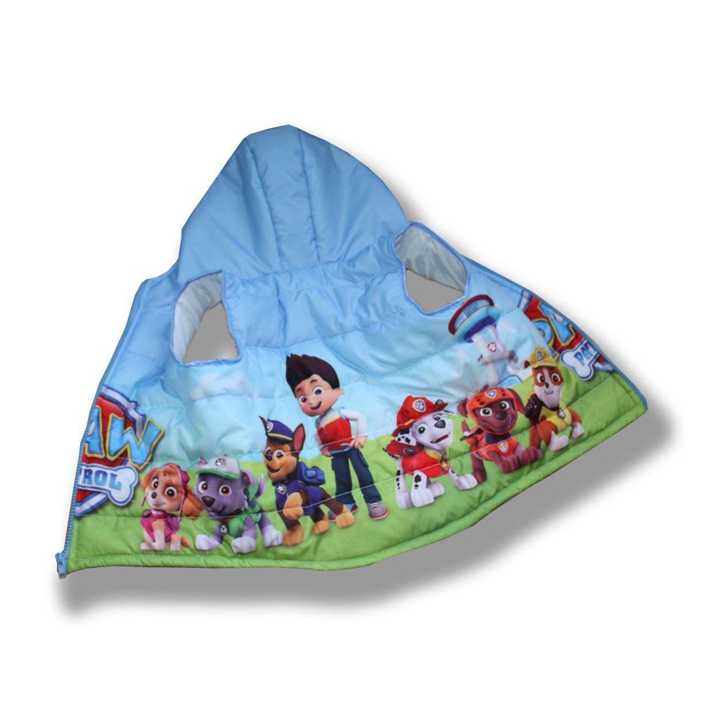 щенячий патруль стеганный жилет сублимация голубая детская мальчику безрукавка ручная куртка работа принт подарок
