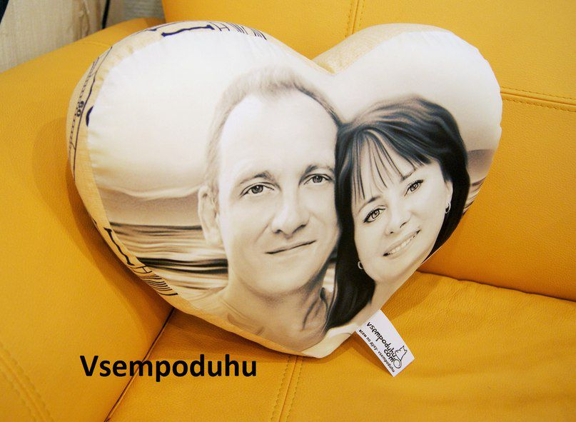 подушка подарок на сердечко с фото сердце сердца форме сердечный фотографией любимому годовщину в