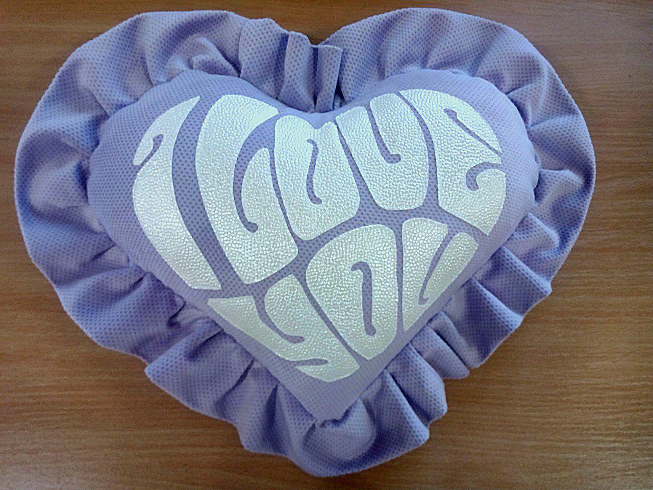 подушки подарок валентинки