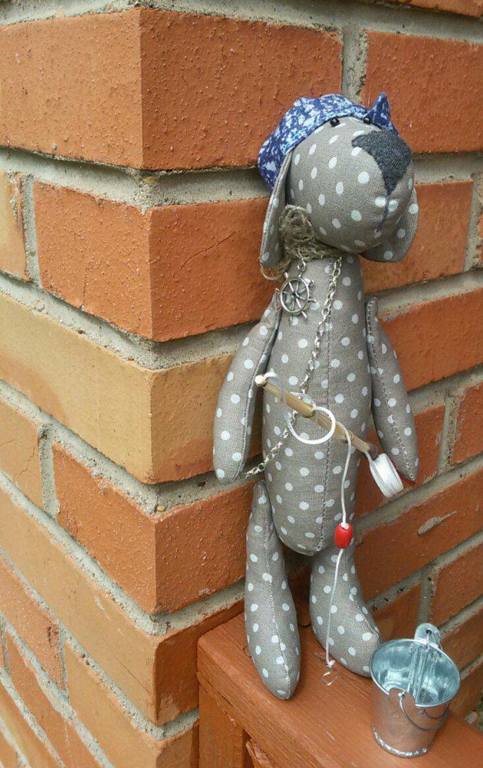 дети рыбак подарить собака удочка купить хендмейд своимируками кукла тряпичнаякукла пес подарок