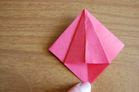 Оригами из бумаги цветы 17
