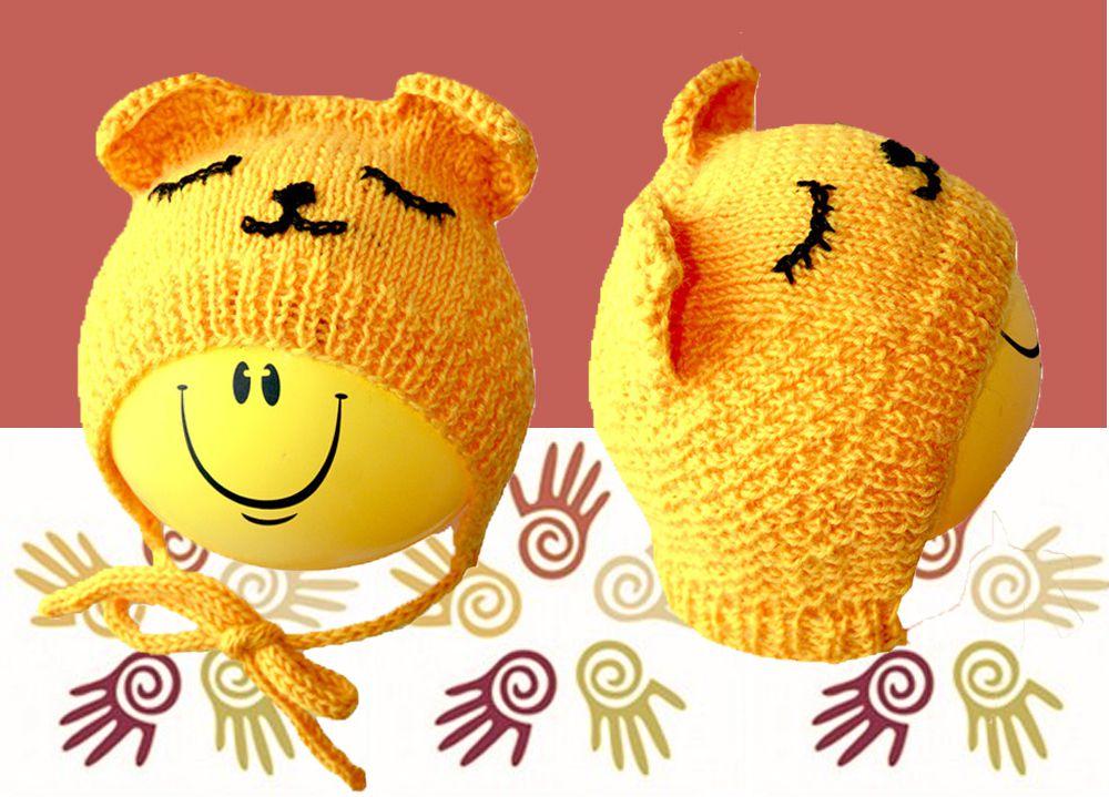 шапки мишка чепчик новорожденого миша фотосесси купить работа ушками с ручная ушки для мишутка продажа аксессуары детям шапочка желтая