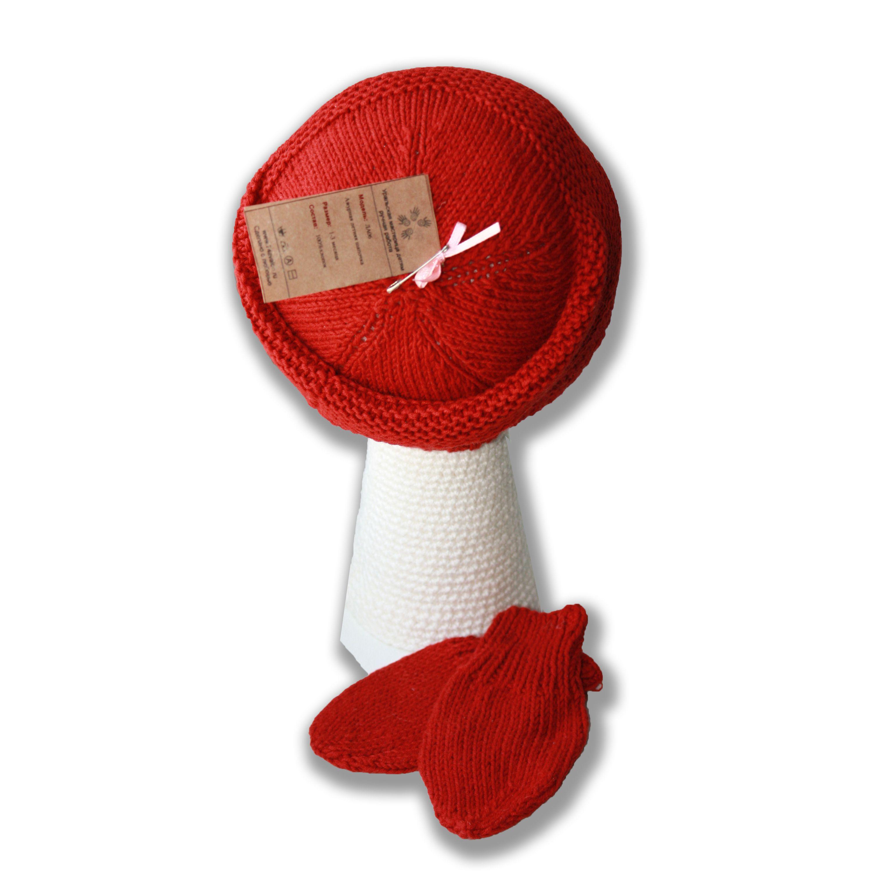 красная продажа митенки детские шапочки чепчики мягкая новорожденные спицами шапки работа ручная малышу аксессуары натуральная детям и подарок купить стильная шляпы связанное
