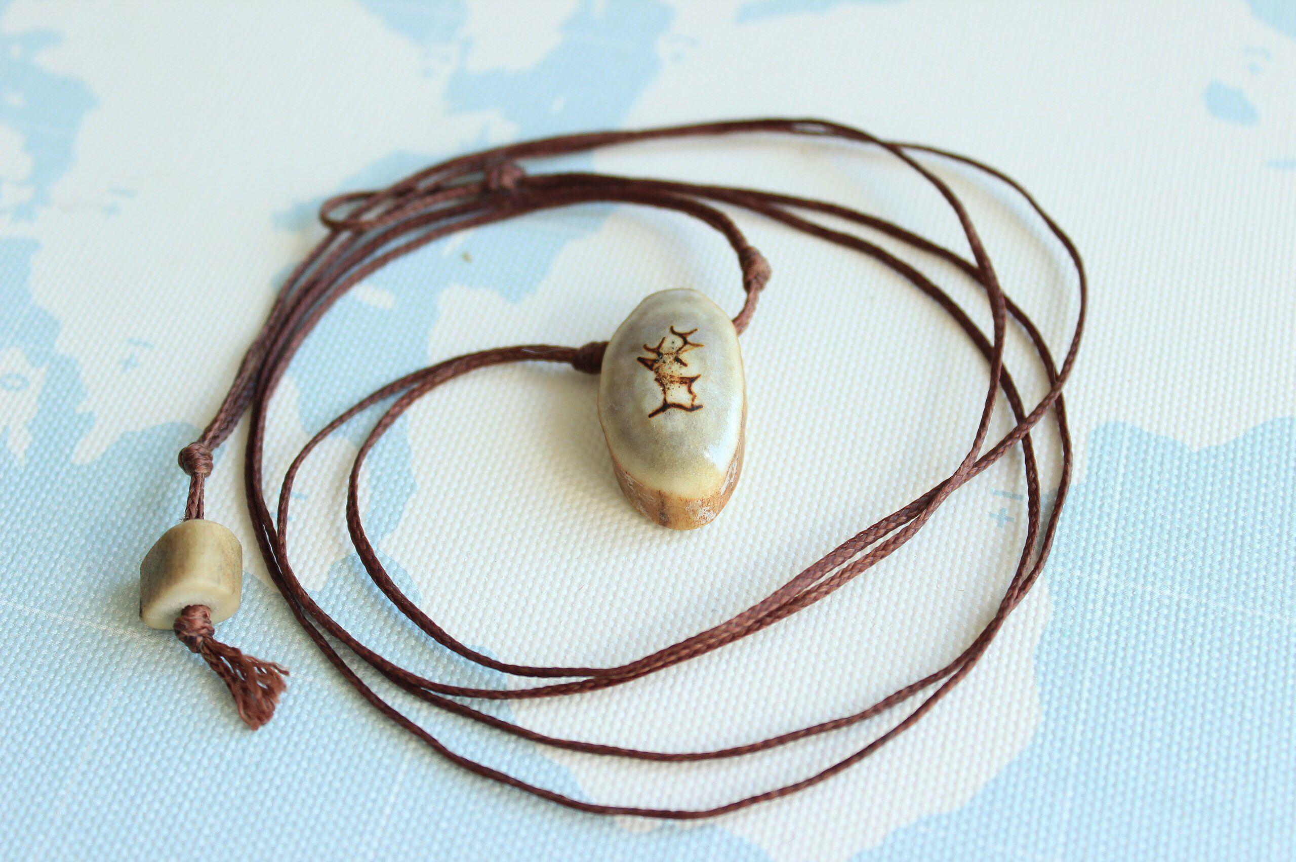 аксессуар ожерелье олень