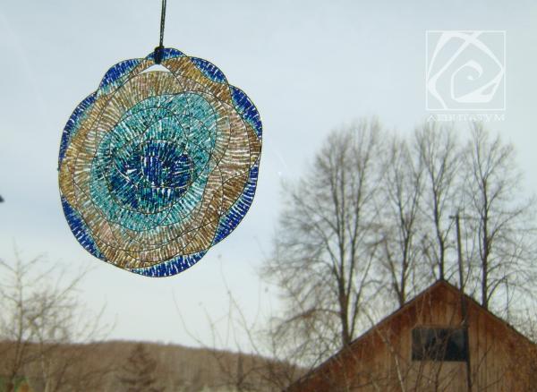 бирюзовый подвеска море синий цветотерапия настроение бисероплетение бисер
