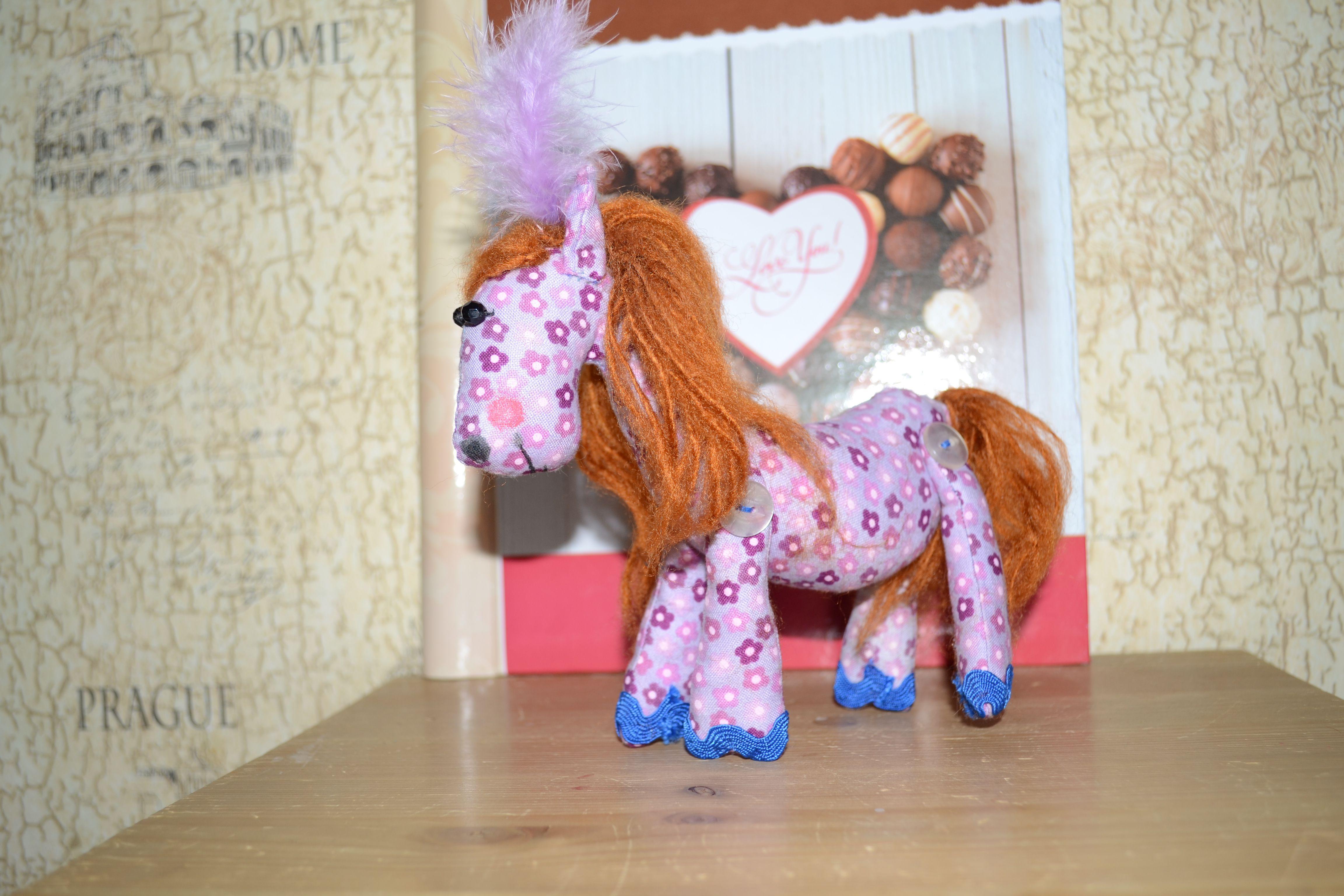 игрушка дети лошадка handmade подарок