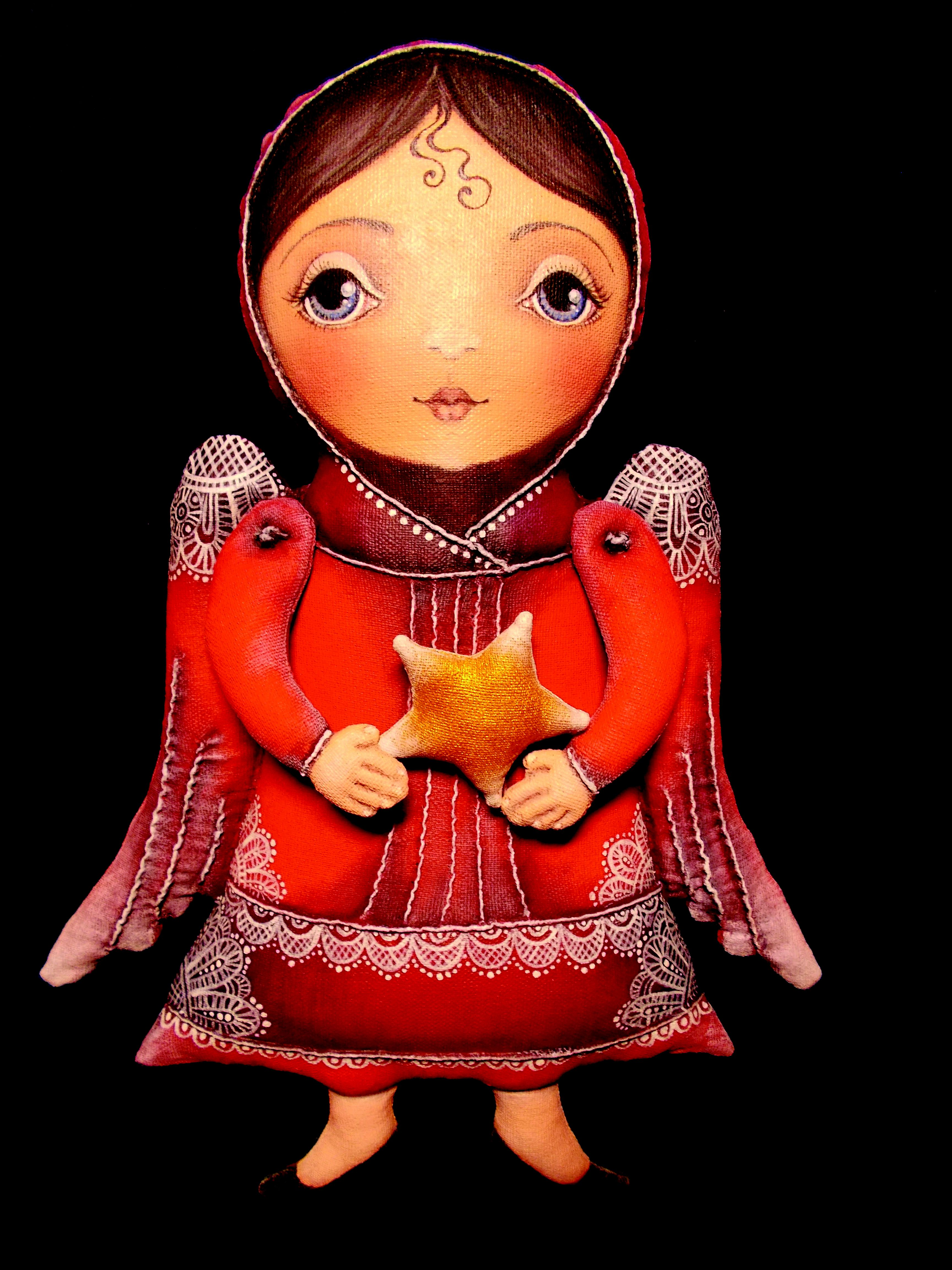ангел бязь handmade сувенир акрил подарок ручнаяработа