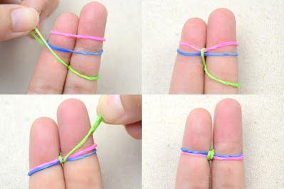 Как сделать браслет из резинок 3