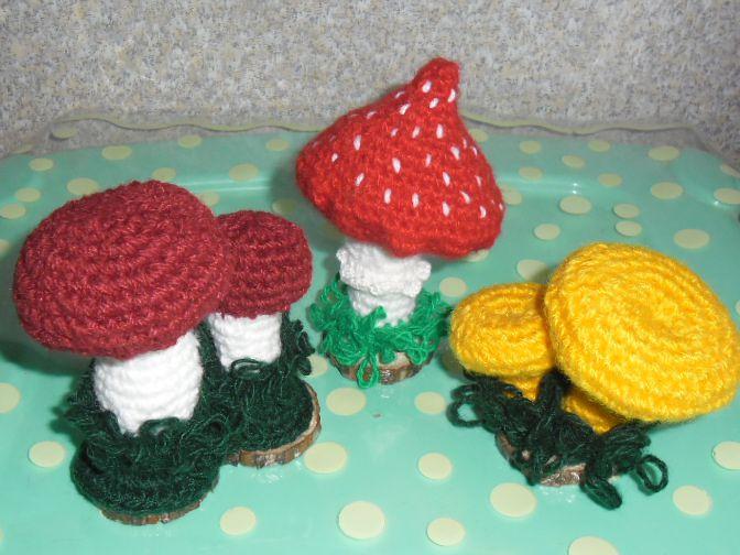подарок сувенир крючок игольница гриб