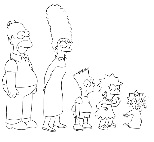 How To Draw The Simpsons Drawing Family Simpsons Step