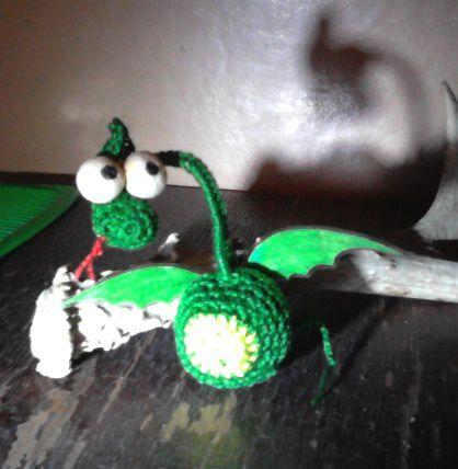 горыныч дракон игрушка вязание интерьер крючком