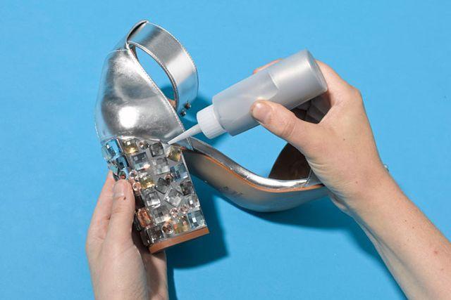 руками одежды туфель декор декора обувь для ремонт идеи своими