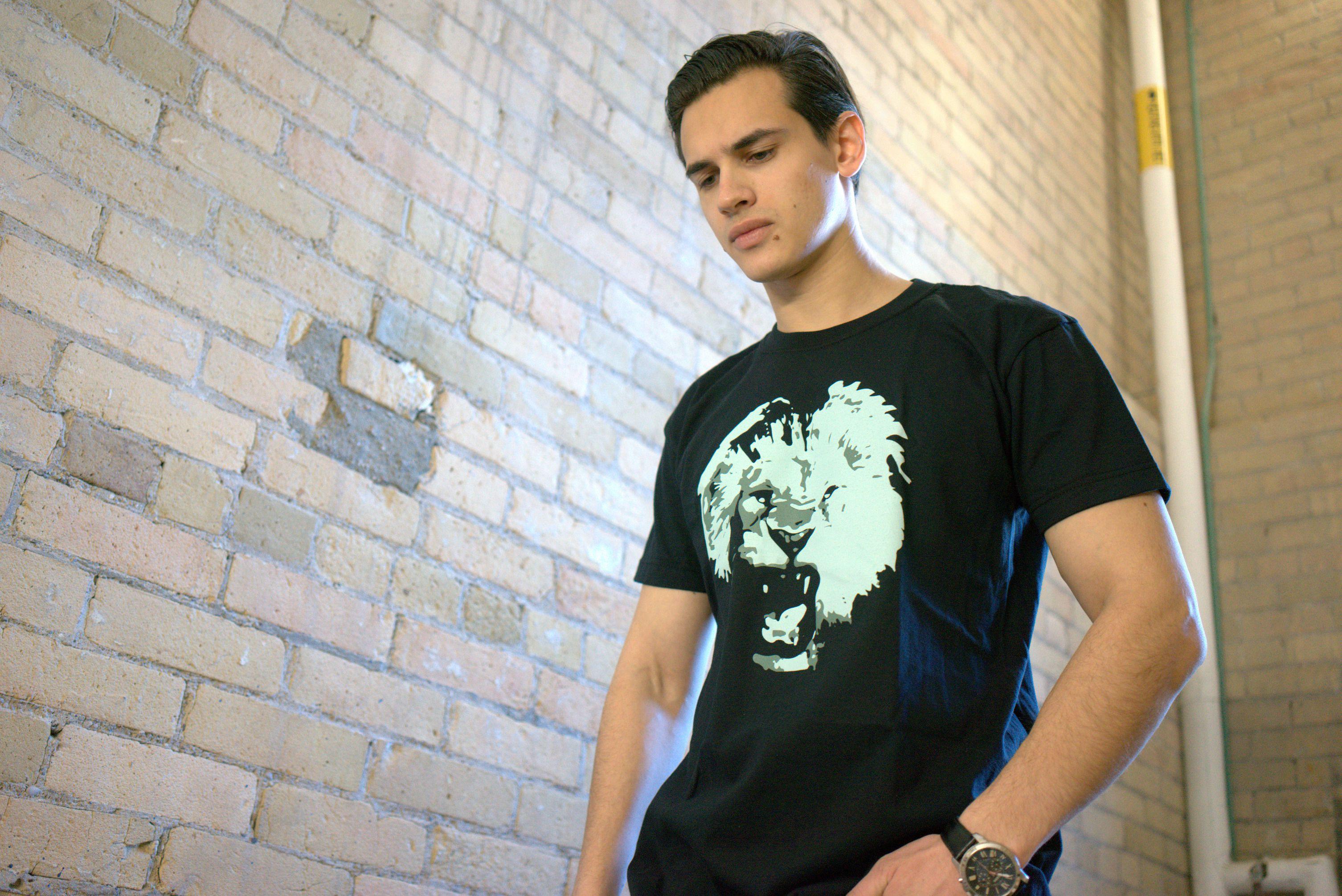 принт футболка дизайн velichi лев