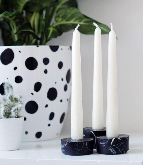 глина полимерная подсвечник свечи