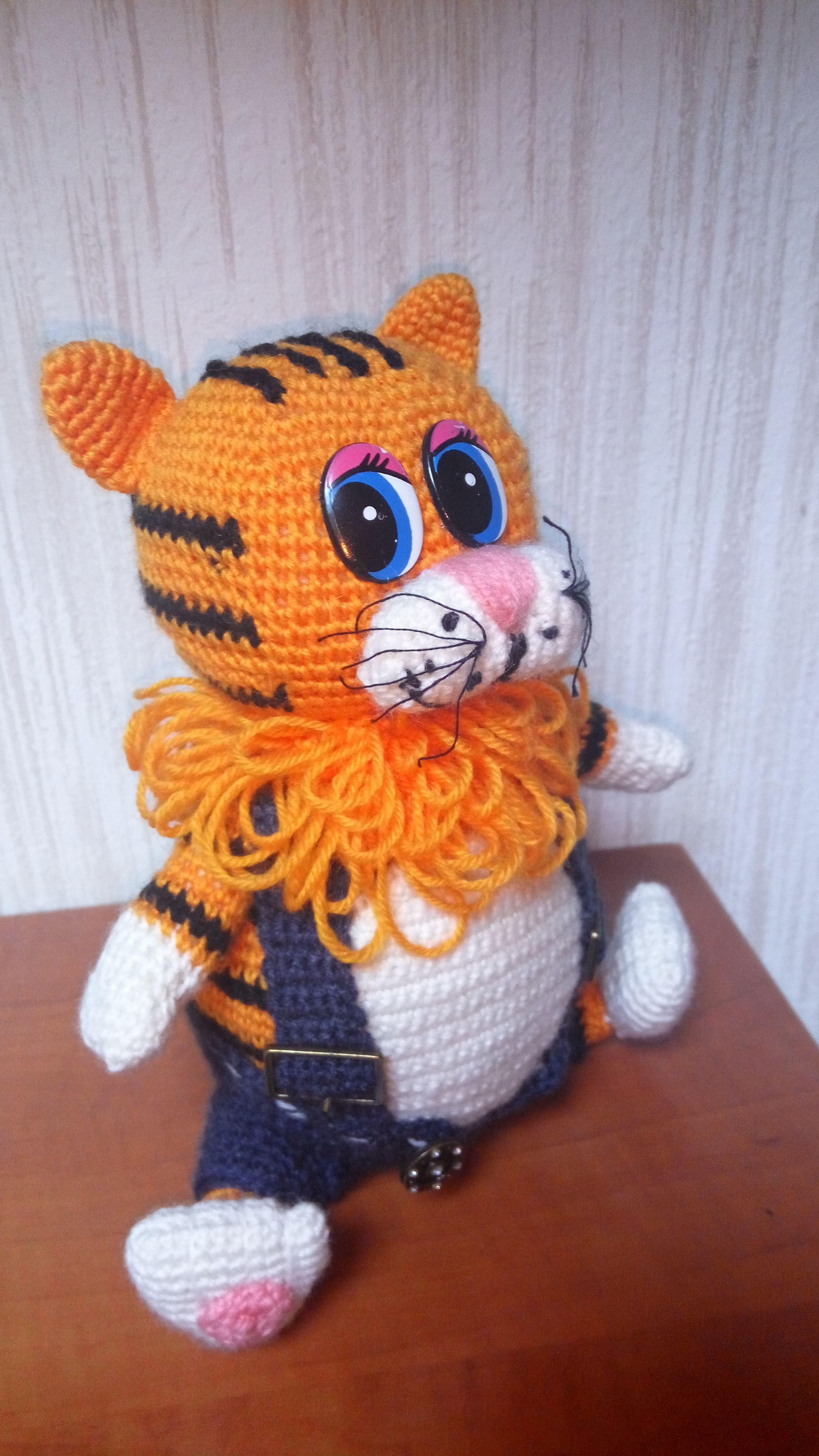 игрушка амигуруми детям вязаная handmade мягкая ручной работы кот
