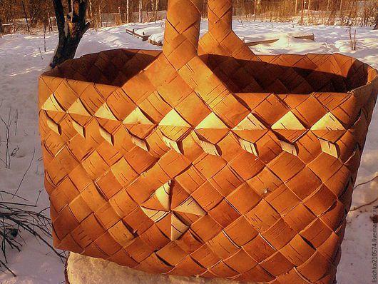 плетение корзина береста корзинка
