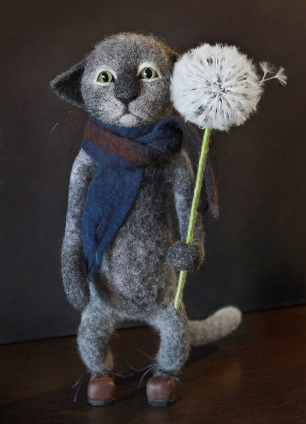 купить 100 шерсть подарки кот ручнаяработа